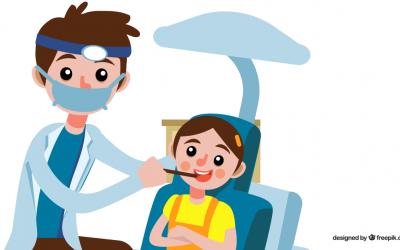 La primera visita del niño al dentista.